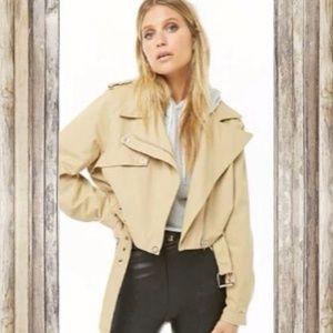 Jackets & Blazers - Belted Moto Jacket